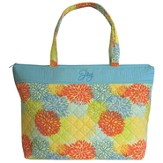 Joy Tote Bag, Orange and Blue