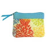 Joy Coin Purse, Orange and Blue