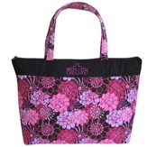 Cross Tote Bag, Floral, Purple