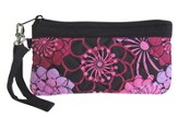 Cross Wristlet, Floral, Purple