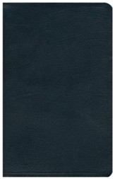 HCSB UltraThin Reference Bible, Black Genuine Cowhide