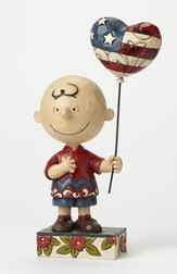 Peanuts Figurine, Patriotic Charlie Brown