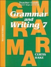 Saxon Grammar & Writing Grade 7  Teacher Guide, 2nd Edition