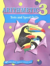 Abeka Arithmetic 3 Student Tests and Speed Drills