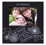 Photo Frame, Chalkboard, Phil 1:3