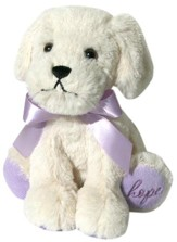 Plush-Puppy-Cream with Purple accents (all cancers)