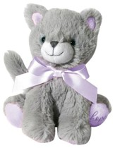 Plush-Kitty-Silver Gray with Purple accents (all cancers)