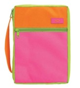 Pink & Orange Bible Cover, X-Large