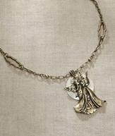 Open Armed Angel Necklace