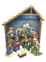 Miracle in the Manger Nativity Set Heartwood Creek 8 Pieces