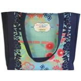 Grace and Peace Denim Tote Bag