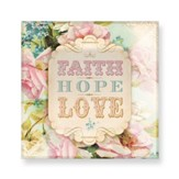Faith, Hope, Love Glass Plate