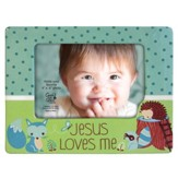 Jesus Loves Me Photo Frame, Fox, Blue