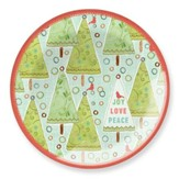 Joy. Love Peace (trees) Glass Plate