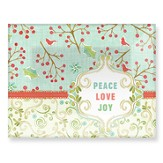 Peace, Love Joy Rectangle Glass Plate
