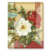 Merry Christmas (roses) Glass Plate