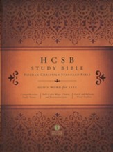 HCSB Study Bible, Hardcover - Imperfectly Imprinted Bibles