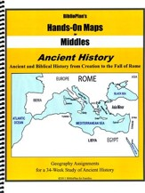 BiblioPlan's Hands-On Maps for Middles: Ancient History, Grades 2-8