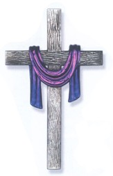 Wall Cross with Purple Robe