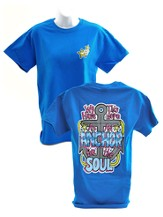 Girly Grace, Anchor For the Soul Shirt, Blue, Small