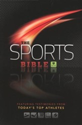 HCSB Sports Bible, Black Simulated Leather - Slightly Imperfect