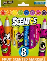 Scentos Scented Washable Markers, Pack of 8