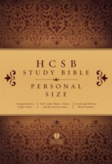 HCSB Personal Size Study Bible, Hardcover - Slightly Imperfect