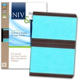 NIV and KJV Side-by-Side Bible: God's Unchanging Word Across the Centuries, Chocolate/Turquoise - Slightly Imperfect