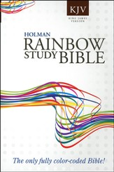 KJV Rainbow Study Bible, Softcover