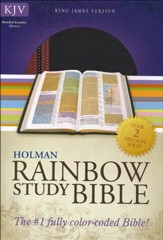 KJV Rainbow Study Bible, Brown and Chestnut LeatherTouch