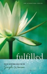 Fulfilled: The NIV Devotional Bible for the Single Woman,  hardcover - Slightly Imperfect