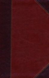 HCSB Ultrathin Reference Bible, Classic Mahogany LeatherTouch, Thumb-Indexed