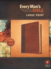 NLT Every Man's Bible, Large-Print; Imitation leather Brown  & Tan - Imperfectly Imprinted Bibles