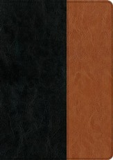 NIV Every Man's Bible, Large-Print; Imitation leather, Black  & Brown - Slightly Imperfect