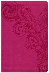HCSB Large Print Personal Size Bible, Pink LeatherTouch, Thumb-Indexed