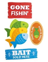 Big Fish Bay: Gone Fishin' Cutouts (pkg. of 6)
