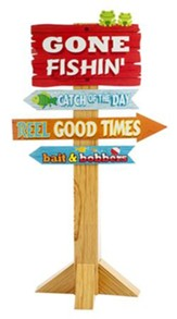 Camp Moose on the Loose: Gone Fishin' Directional Sign