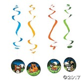 Camp Moose on the Loose: Campsite Hanging Whirls (pkg of 12)