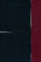 HCSB Large Print Ultrathin Reference Bible, Black and Burgundy LeatherTouch, Thumb-Indexed