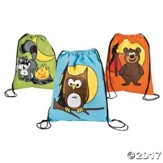 Camp Moose on the Loose: Camp Critters Drawstring Bags (pkg. of 12)