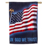 In God We Trust, Suede Flag, Large