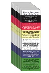 New Life Plan of Salvation Bookmark pack of 25
