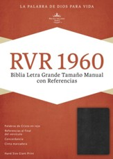 RVR 1960 Large Print Reference Bible, Black  - Slightly Imperfect