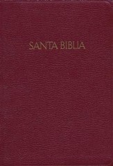 RVR 1960 Large Print Reference Bible Burgundy