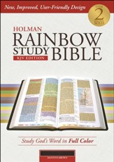 KJV Holman Rainbow Study Bible, Mantova Brown LeatherTouch