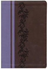 KJV Holman Rainbow Study Bible, Brown and Lavender LeatherTouch