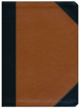 NKJV Holman Study Bible, Black and Tan LeatherTouch