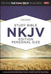 Holman Study Bible: NKJV Edition Personal Size, Espresso & Teal LeatherTouch