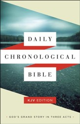 KJV Daily Chronological Bible, hardcover (slightly imperfect)