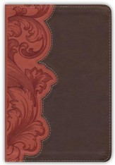 KJV Study Bible Personal Size, Dark Umber and Sienna LeatherTouch